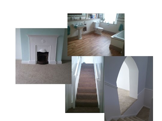 A collage of some curious areas. Our carpet fitting services are efficient, professional and mastered.