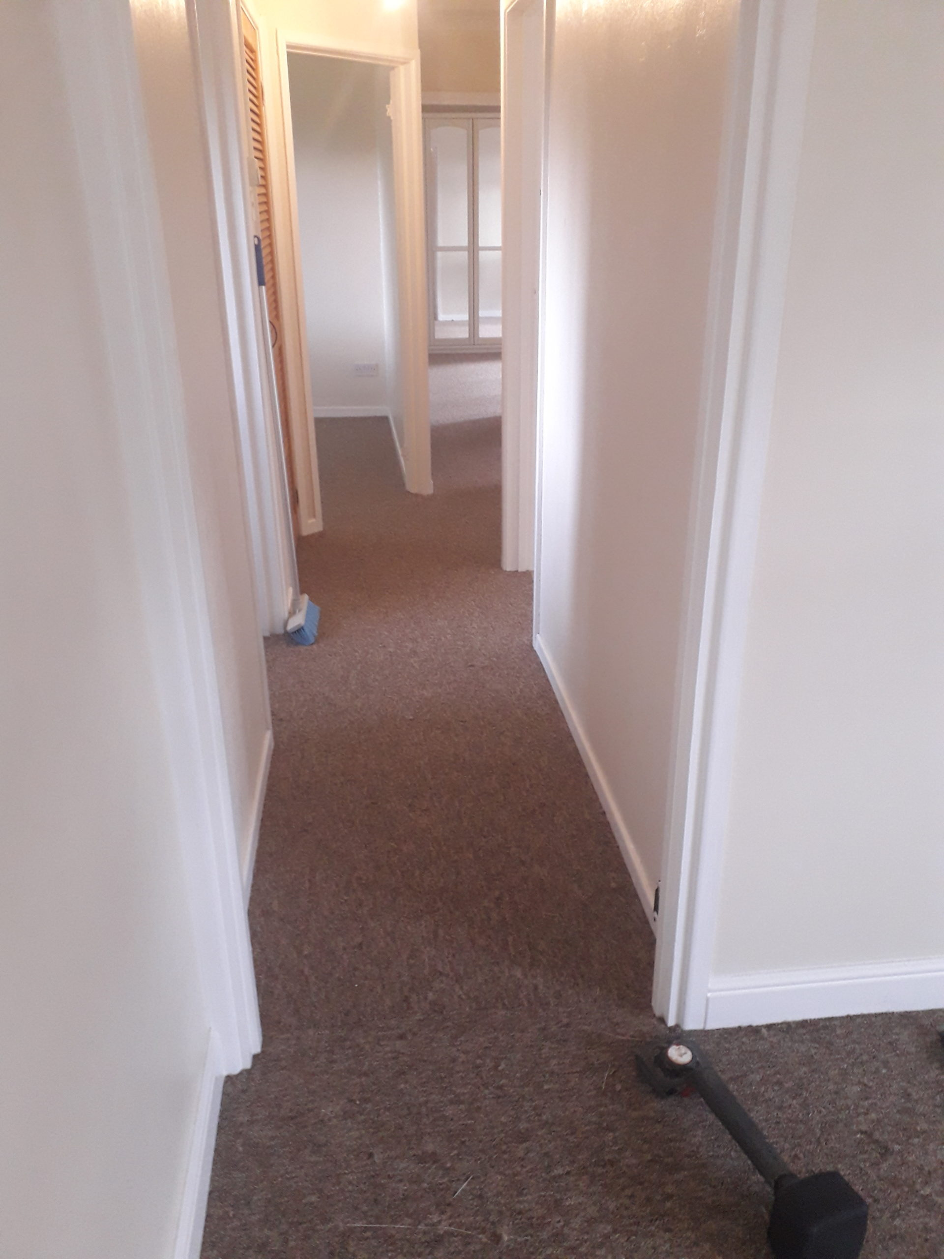 Its nice when all the doors are off and we can fit the carpet more seamlessly into each room.