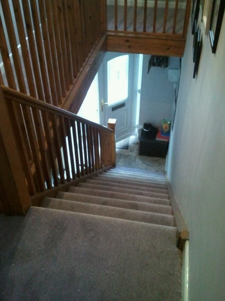 Staircase carpet fitted recently in Torpoint