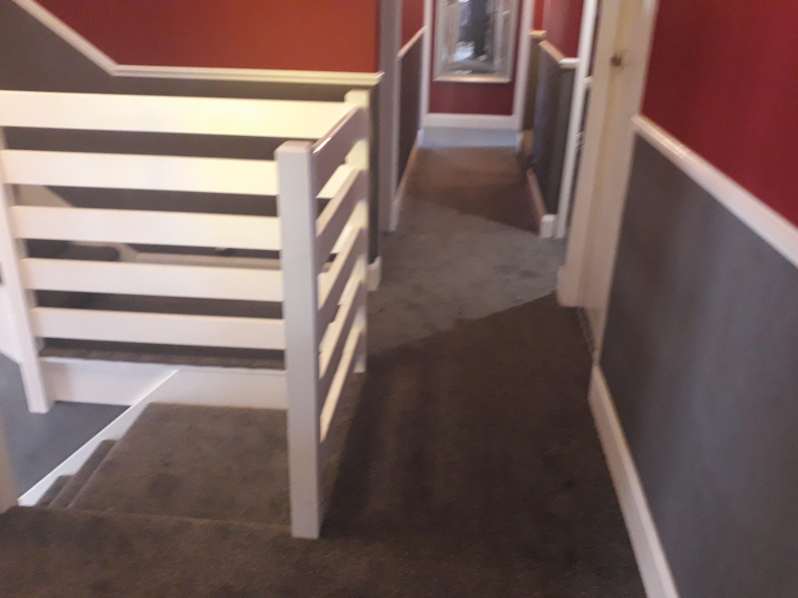 Fiddly staircase carpet fitted in Callington. Very happy with the finished result.