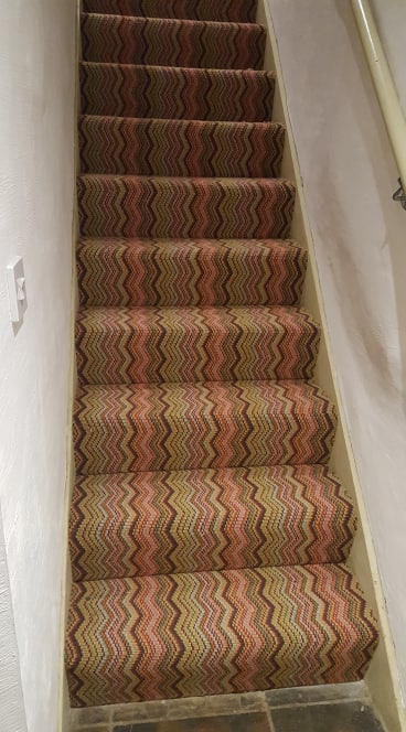 This distinct zig zag cord carpet fitted in Calstock leaves a very interesting impression